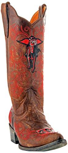 Gameday Boots NCAA Texas Tech Red Raiders Women's 13-Inch, Brass, 10 B (M) US - Distressed Braun Cowboy Stiefel