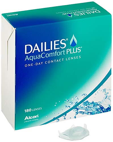 Dailies Aquacomfort Plus Tageslinsen weich, 180 Stück / BC 8.7 mm / DIA 14 / -1.75 Dioptrien