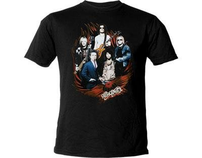 Aerosmith - T-Shirt Cocked Group (in S) -