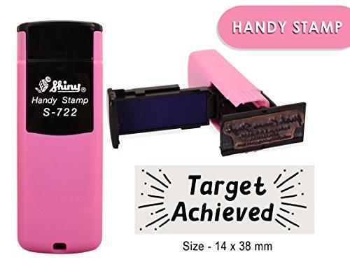 Auto inchiostrazione timbro di gomma lucida s-722personalizzato testo ufficio Stamper 14x 38mm 14 x 38 MM Black Ink