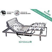 KAMA HAUS Cama Articulada 5 Planos | Motor con Mando por Cable | 135 x 180cm