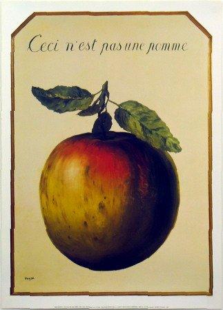 Preisvergleich Produktbild Kunstdruck 'Ceci n'est pas une pomme', von Rene Magritte, Größe: 50 x 70 cm