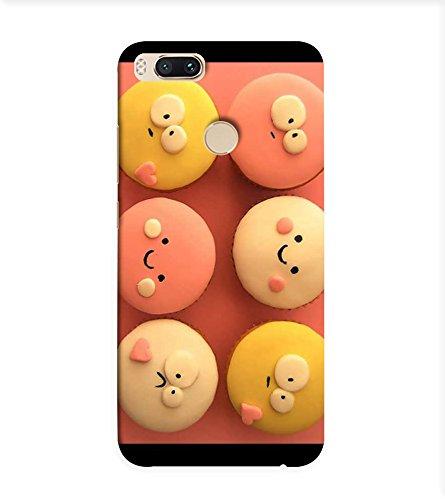 OBOkart Cute cupcakes 3D Hard Polycarbonate (Plastic) Designer Back Case Cover for Xiaomi Mi A1