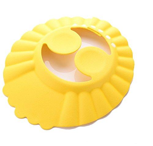 (mod.3 giallo) cuffia - bagnetto - bagno - doccia - proteggi occhi - orecchie - bambini - morbida - regolabile - comoda - colorata - idea regalo
