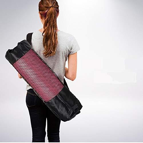 HATCHMATIC Convenience Blackyoga Rucksack Yoga-Matte wasserdichter Rucksack Yogatasche Nylon Pilates Träger Mesh-verstellbare Riemen ericht Tool: 8mm (30x90cm)