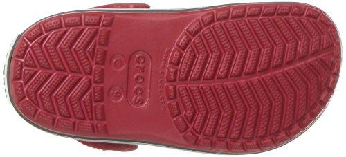 Crocs Crocband Clog K Ppr/Gpt, Sabots Mixte Enfant Rouge (Pepper/Graphite)