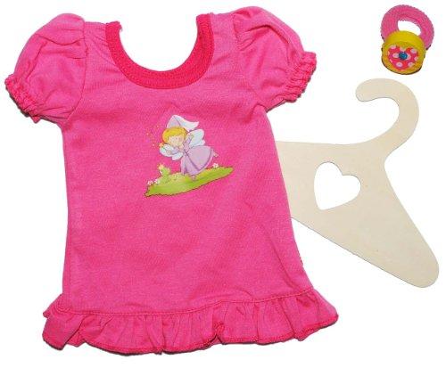 Puppenkleidung Größen 20 - 25 cm Nachthemd / Sommerkleid rosa Frosch Puppenbekleidung für die Puppe - incl. Haargummi - Kleid für die Puppe - Kleidung Bekleidung Puppenbekleidung Kleider Sommerkleid