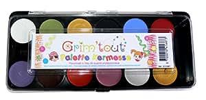 Grim'tout - Gt41687 - Palette Kermesse - 12 Couleurs