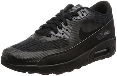 Nike Herren Air Max 90 Ultra 2.0 Essential Laufschuhe, Bianco, Schwarz (Black / Black / Black / Dark Grey), 39 EU