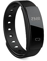Lixada Wireless Smart Activity Trackers Wristband/Fitness Tracker/Blutdruck Herzfrequenzmesser Sport Schrittzähler