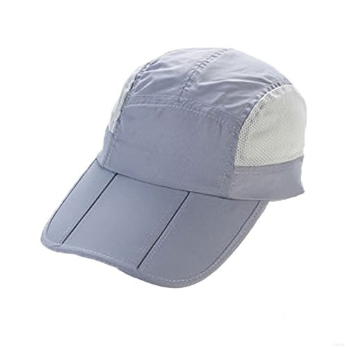 GADIEMENSS Quick Drying Breathable Running Outdoor Hat Cap Only 2 Ounces (White) (Denim Print Cap)