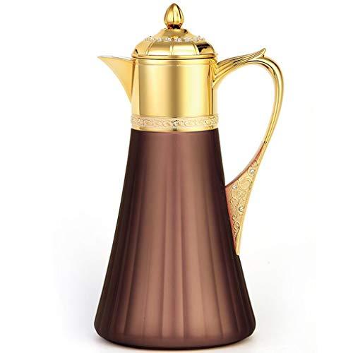 Isolierung Wasserkocher Europäischen Gericht Wind Haushalt Wasserkocher Glas Liner Kreative Design Mode Kaffeemaschine 1L Lostgaming (Farbe : Brown) - Kaffeemaschine Vakuum Glas