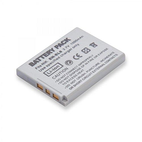 Rusty Bob - Nikon EN-EL8 100% kompatibel (mit Nikon) COOLPIX P1,S1,S2,S3,S5,S50c,S51c, S52,S52c,S6,S7c,S9 kein / Original - Akku (En-el8)