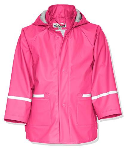 Playshoes Kinder Regenjacke-Mantel mit abnehmbarer Kapuze, Rosa (18 pink), Gr. 74 (Rosa Mädchen Mantel)