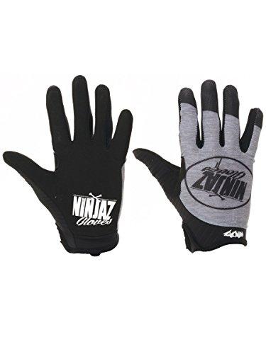 Ninjaz Mtb Handschuhe 2017 The Ash Schwarz-Grau (Large , Schwarz)