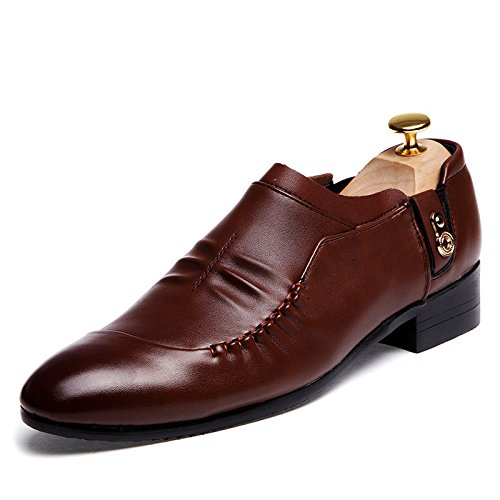 Men's Fashion PU Leather Oxfords Shoes 8861 brown