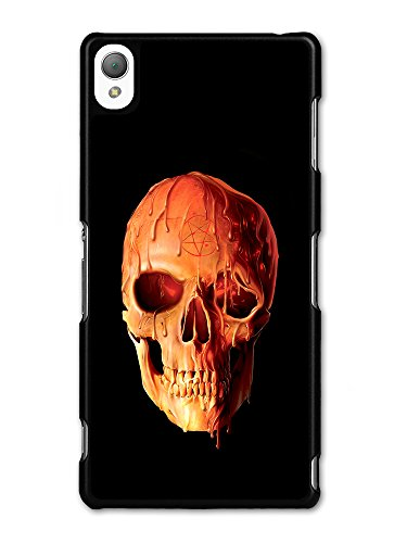 Melting Wax Skull with Pentagram Design on Black Grunge Style case for Sony Xperia Z3
