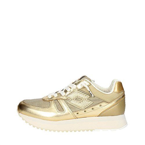 Lotto Leggenda S8908 Sneakers Femme Cuir/tissu Or Or