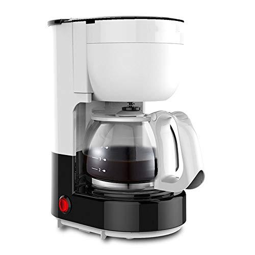 Macchina Caffè 6 Tazze, 600 Watt, Autospegnimento, Filtri Caffe Americano, Caffettiera In Vetro Con Timer,White