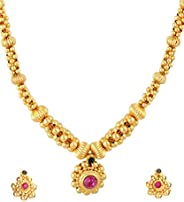 Womens Trendz Handmade Traditional, Ethnic and Antique Gold Plated Jewellery Necklace and Earrings Set for Wom