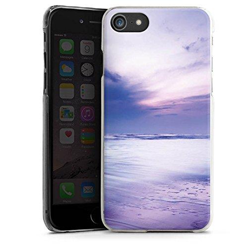 Apple iPhone X Silikon Hülle Case Schutzhülle Lila Wolken Ozean Hard Case transparent