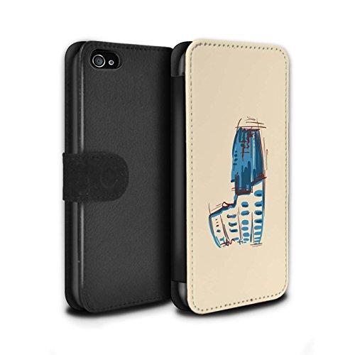 Stuff4 Coque/Etui/Housse Cuir PU Case/Cover pour Apple iPhone 4/4S / Statue de la Liberté Design / Monuments Collection Colisée / Rome