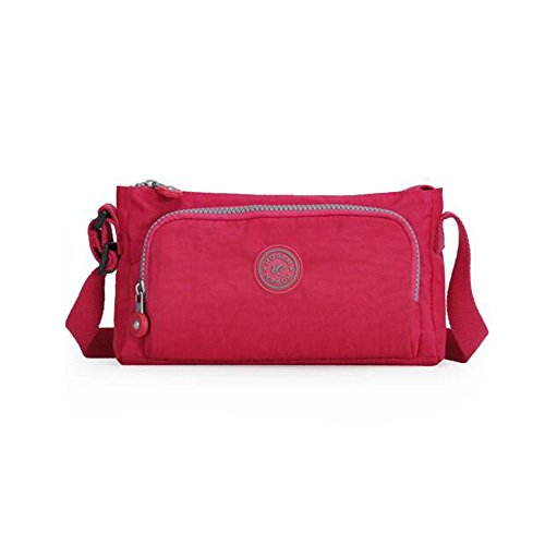 HTRPF wasserdichtes Schulter-Tuch im Freien Spielraum-Beutel-Farbe gewaschene Tuch-Beutel rose red