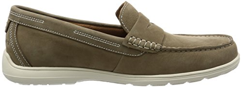 Rockport Herren Total Motion Loafer Penny Slipper Beige (New Vicuna Nbk)
