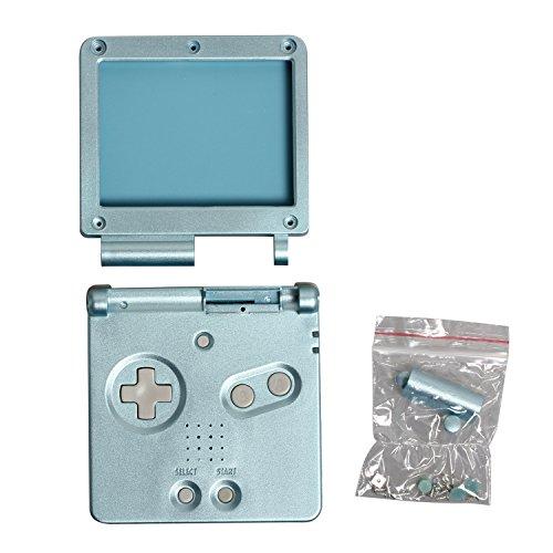 Timorn Reemplazola cubierta llena de la cubierta del caso de Shell para Nintendo GBA SP Gameboy Advance SP (Azul Claro)