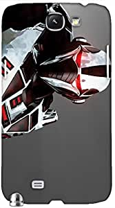 Timpax protective Armor Hard Bumper Back Case Cover. Multicolor printed on 3 Dimensional case with latest & finest graphic design art. Compatible with only Samsung Galaxy Note II N7100. Design No :TDZ-21314