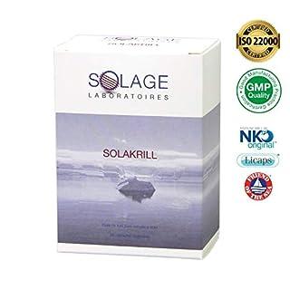 SolakriLL – OMegas 3 DHA/EPA ultra assimiable + Astaxanthin + Cholin: 100% krill NKO pure – 500 mg – schmerzfrei und neu – 60 Einhorn wasserdicht – Satisfait oder gepolstert – Laboratoires SOLAGE