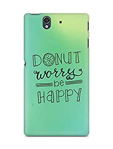 AMEZ donut dont worry be happy Back Cover For Sony Xperia Z