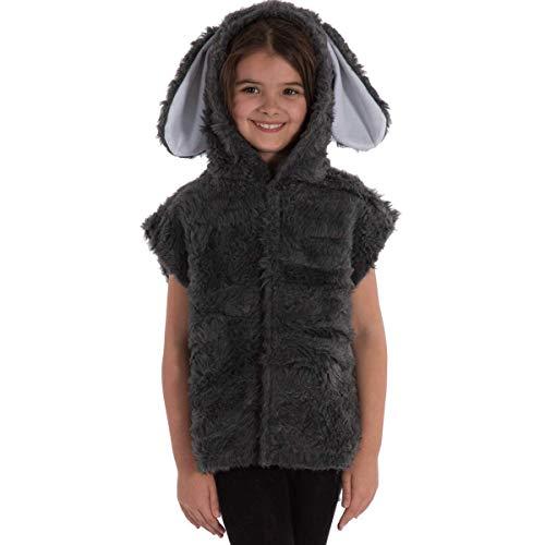 Kinder Kostüm Crow The - Unbekannt Charlie Crow Graues Hase kostüm für Kinder - Einheitsgröße 3-8 Jahre.