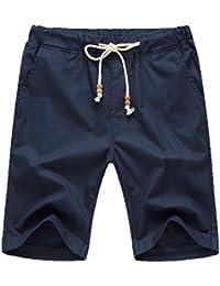 (͡° ͜ʖ ͡°) LMMVP Eté Short en Lin Bermuda Pantalon Court pour 62af2bca5e7