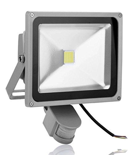 Leetop 30W LED Scheinwerfer mit Bewegungs Sensor im Freien wasserdichter energiesparender niedriger Verbrauch Lampen Scheinwerfer Garagen Garten Licht kaltem - Garage Sensor Licht