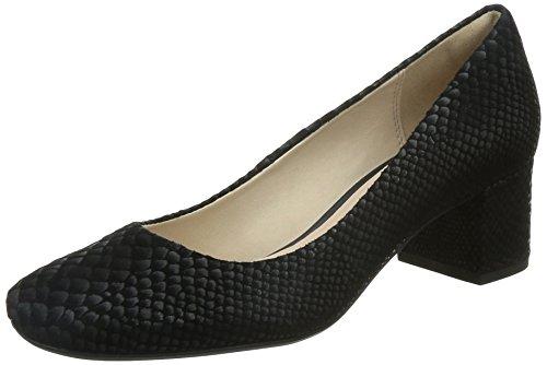 Clarks Chinaberry Gem, Chaussures à talons - Avant du pieds couvert femme Noir (Black Snake)
