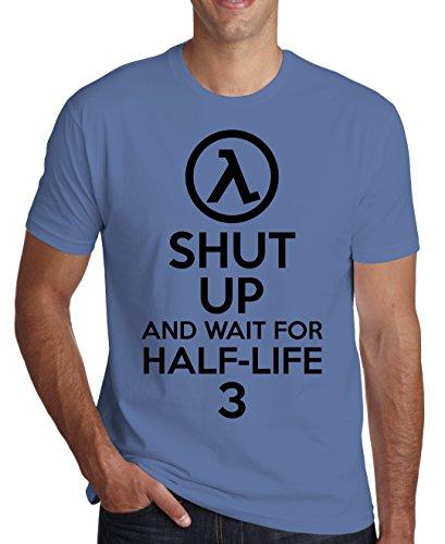 Shut Up And Wait For Half-Life 3 Men's T-Shirt Medium