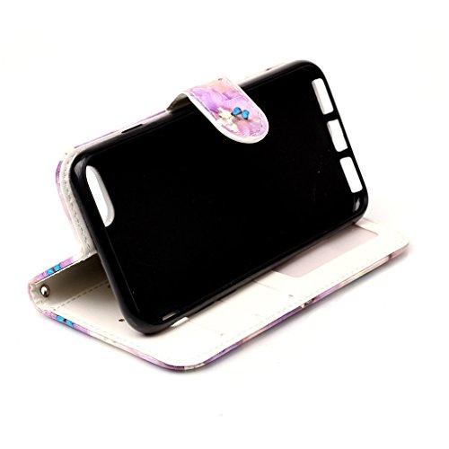 Apple iPhone 7 / iPhone 8 Hülle, SATURCASE Bas-relief Schönes Muster PU Lederhülle Ledertasche Magnetverschluss Flip Cover Brieftasche Case Handy Tasche Schutzhülle Handyhülle Hülle mit Standfunktion  Muster-6