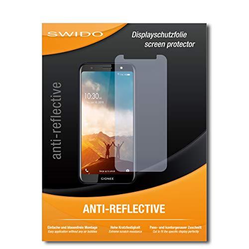 SWIDO Schutzfolie für Gionee F205 Pro [2 Stück] Anti-Reflex MATT Entspiegelnd, Hoher Härtegrad, Schutz vor Kratzer/Folie, Bildschirmschutz, Bildschirmschutzfolie, Panzerglas-Folie