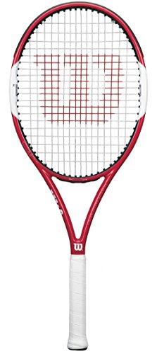 Wilson Tennisschläger Six.One Lite 102, rot, 3, WRT73030U (Graphit Schläger Junior Tennis)