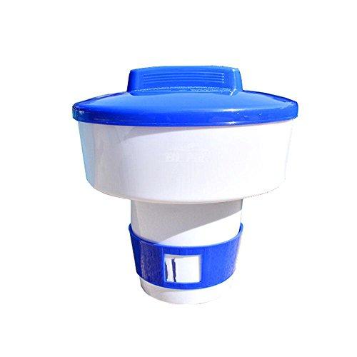 Pawaca - Dispensador químico para SPA de Piscina, dispensador Flotante de Cloro con Ventilación de Flujo Ajustable para Mayor Concentración, PVC Ambiental, Medium