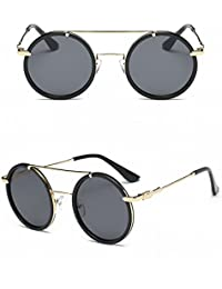 Männer Farbe Linse Sonnenbrille Mode Frosch Spiegel Anti-Uv-Sonnenbrille Schwarzer Rahmen Schwarzes Objektiv BBi02M