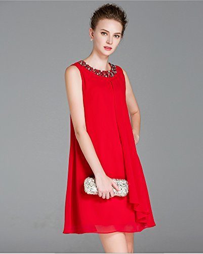 Sarah Dean Newyork - Robe - Robe - Femme rouge Red red