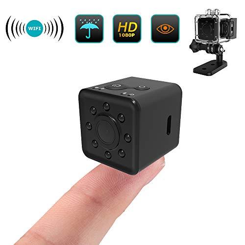 Preisvergleich Produktbild Sport Kamera, Mini-Kamera,  HD 1080P kleine Sicherheit Kameras Mikro Nanny Kamera mit, Bewegungserkennung und Infrarot Nachtsicht Innen / Aussen Wireless Weitwinkel IP Sicherheit Kameras