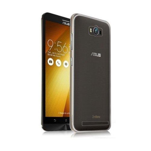Plus Ultra Clear Flexible Soft TPU Slim Back Cover for Asus Zenfone Max ZC550KL (Transparent)