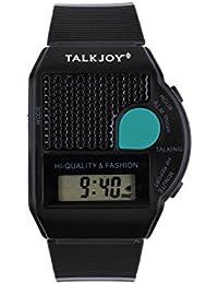 Sprechende Armbanduhr Sprachfunktion Uhrzeit Ansage Zeitansage schwarz Wecker Blindenuhr Seniorenuhr Digitale LCD