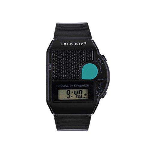 EN - Reloj de Pulsera con Alarma, diseño con Texto en inglés, Color Negro