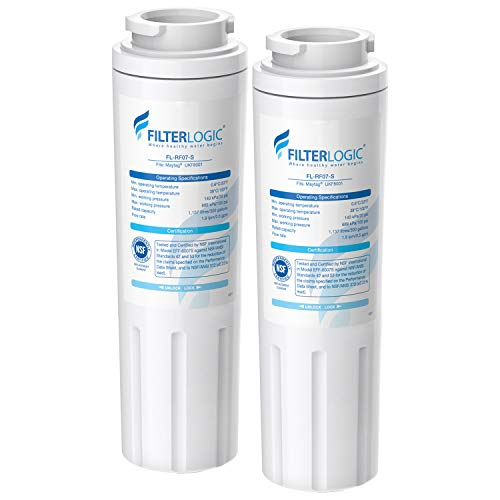 FilterLogic UKF8001Ersatz für PUR Air, Maytag UKF8001, UKF8001AXX, UKF8001P, edr4rxd1, Whirlpool 4396395, Puriclean II, 469006Kühlschrank Wasser Filter 2 weiß (Kühlschrank-filter Ukf8001 Pur)