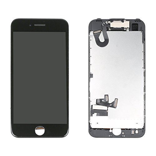 LL Trader Screen Replacement for iPhone 7 (4.7 inch) LCD Touch Digitizer Full Display Assembly with Front Facing Camera Proximity Sensor+Ear Speaker+ Repair Tools (Black)