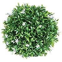 Esfera Decorativa Jazmin, Verde y Blanco, 18 cm altura, Catral 72050019